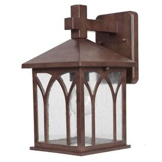 Acclaim Lighting Builder's Choice Collection 1-Light Outdoor Burled Walnut Wall Lantern