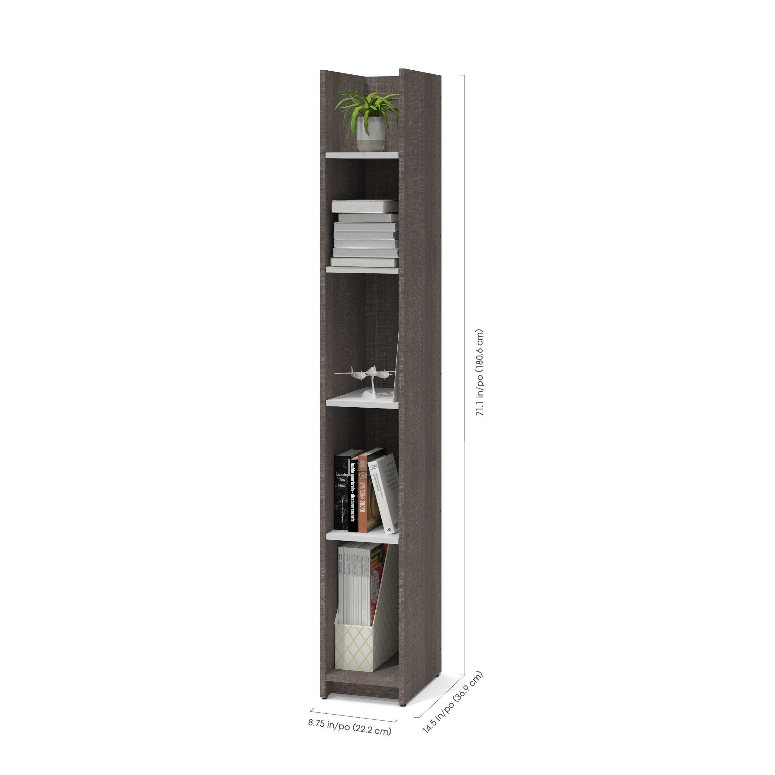 Bestar Small Space 10 Inch Storage Tower