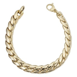 Fremada Italian 14k Yellow Gold Miami Cuban Curb Bracelet (9.9mm, 8.5 inch)