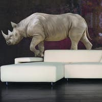 """Rhinoceros Zoo Full Color Wall Decal Sticker AN-116 FRST Size 40""""x80"""""""
