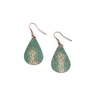 Handmade Art Deco Scallop Earrings - Patina (India)