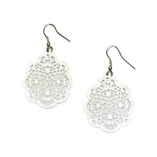 Handmade Viti Earrings - Silvertone (India)
