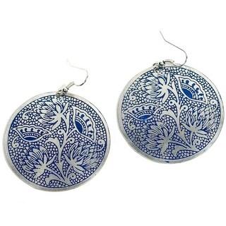 Handmade Padma Earrings - Blue (India)