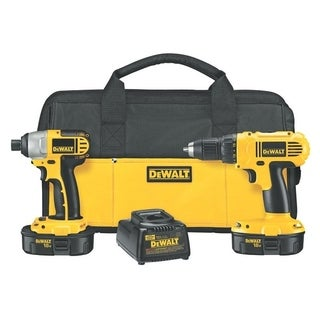 DeWalt 2 pc. Impact Driver and Drill Driver Combo Kit Nickel Cadmium 18 volts