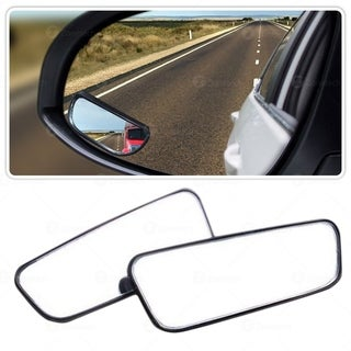 Zone Tech Blind 2 Pack Square Blind Spot Mirror - Stick-On Exterior Side Mirror for All Cars Motorcycles Trucks Snowmobiles
