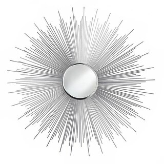 Decorative Silver Starburst Wall Mirror