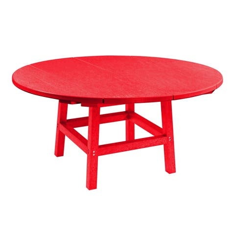 "C.R. Plastics Generation 40"" Round Table Top w/ 17"" Cocktail Table Legs"