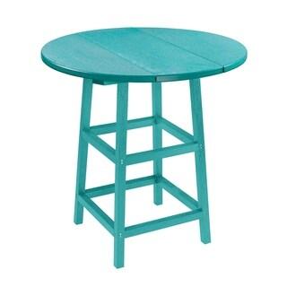C.R. Plastics Generation 32 Round Table Top w/ 40 Pub Table Legs (Baby Blue)