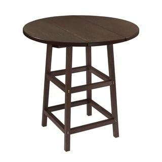 C.R. Plastics Generation 32 Round Table Top w/ 40 Pub Table Legs (Espresso)