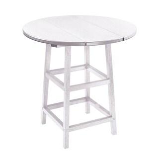 C.R. Plastics Generation 32 Round Table Top w/ 40 Pub Table Legs (White)
