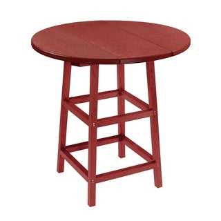 C.R. Plastics Generation 32 Round Table Top w/ 40 Pub Table Legs (Purple)