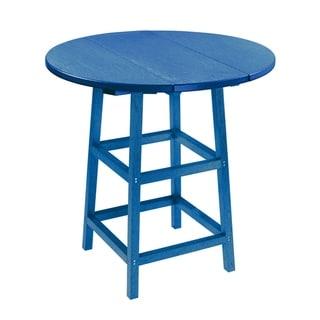 C.R. Plastics Generation 32 Round Table Top w/ 40 Pub Table Legs (Blue)