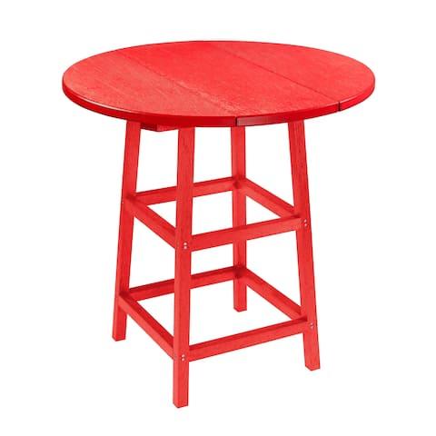"C.R. Plastics Generation 32"" Round Table Top w/ 40"" Pub Table Legs"