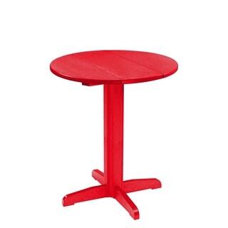 "C.R. Plastics Generation 32"" Round Table Top w/ a 40"" Pub Pedestal Base"