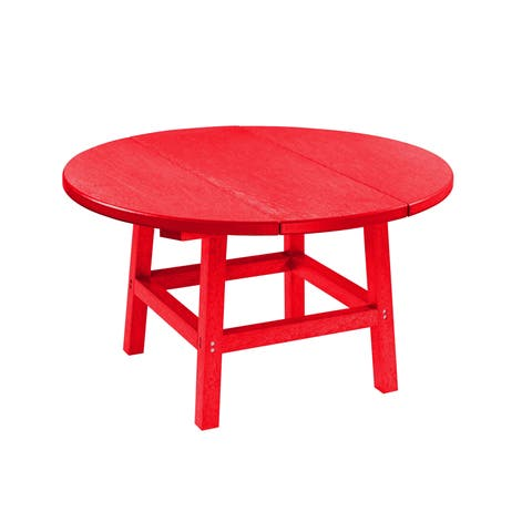 "C.R. Plastic Products Generation 32"" Round Table Top w/ 17"" Cocktail Table Legs"