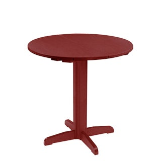 "C.R. Plastics Generation 40"" Round Table Top w/ 40"" Pub Pedestal Base"