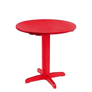 "C.R. Plastics Generation 40"" Round Table Top w/ 40"" Pub Pedestal Base"