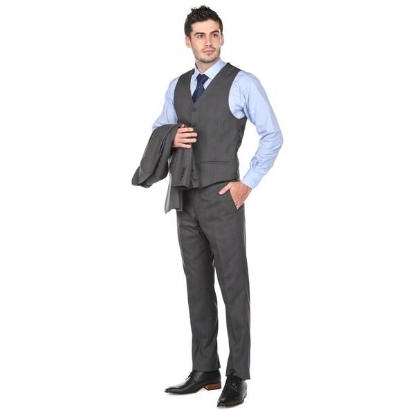 d689d857fcd60 Shop Gino Vitale Men's Modern Fit Glen Check 3 Piece Suits - Free ...