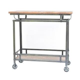 Pressley Grey Metal Cart