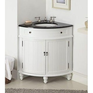 "24"" Benton Collection Thomasville Slim Corner Bathroom Sink Vanity"
