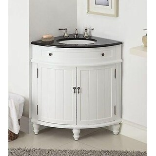 Benton Collection Thomasville Slim Corner Bathroom Vanity Sink 24""