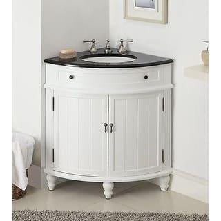 24 Benton Collection Thomasville Slim Corner Bathroom Sink Vanity