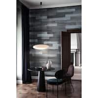 3D Reclaimed Rectangular DIY Peel and Stick Mixed Grey Wood Panels Plank Decor 10 Panels / 16sqft Per Box
