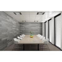 3D Reclaimed Rectangular DIY Peel and Stick Grey Wood Panels Plank Decor 10 Panels / 16sqft Per Box