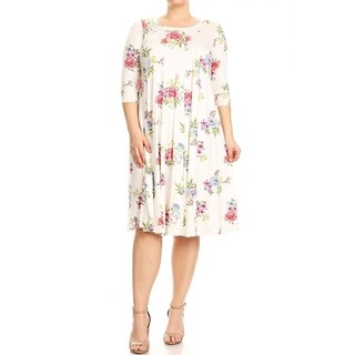 Women's Plus Size Floral Pattern Dress (More options available)