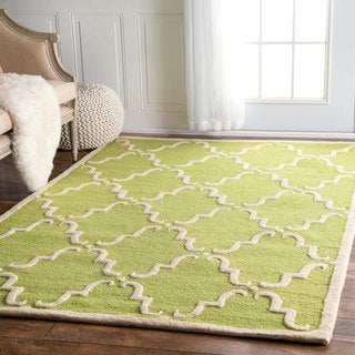 """nuLOOM Handmade Luna Marrakesh Trellis Wool Area Rug - 7'6"""" x 9'6"""""""