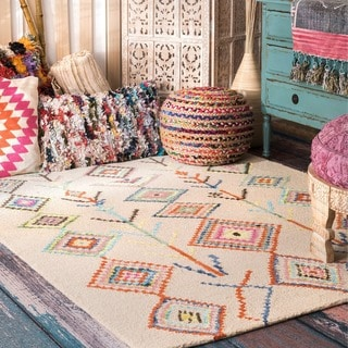 Link to The Curated Nomad Escolta Hand-tufted Wool Moroccan Triangle Area Rug Similar Items in Rugs