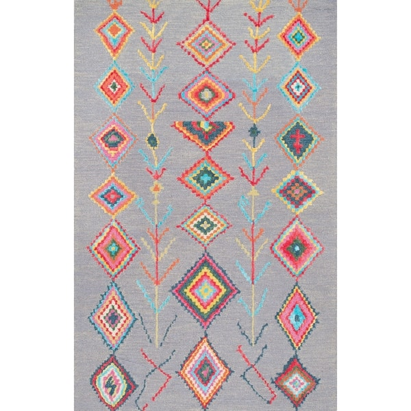 The Curated Nomad Escolta Hand Tufted Wool Moroccan