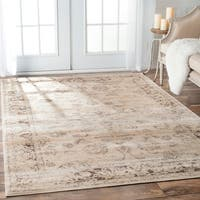 Maison Rouge Aref Oriental Vintage Viscose Natural Area Rug - 9'6 x 12'10