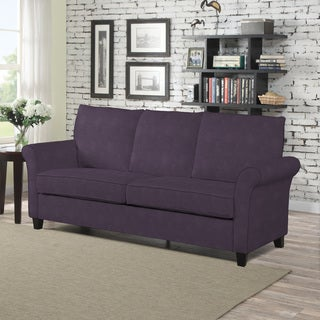 Marvelous Porch U0026 Den Pope Street Plum Velvet SoFast Sofa