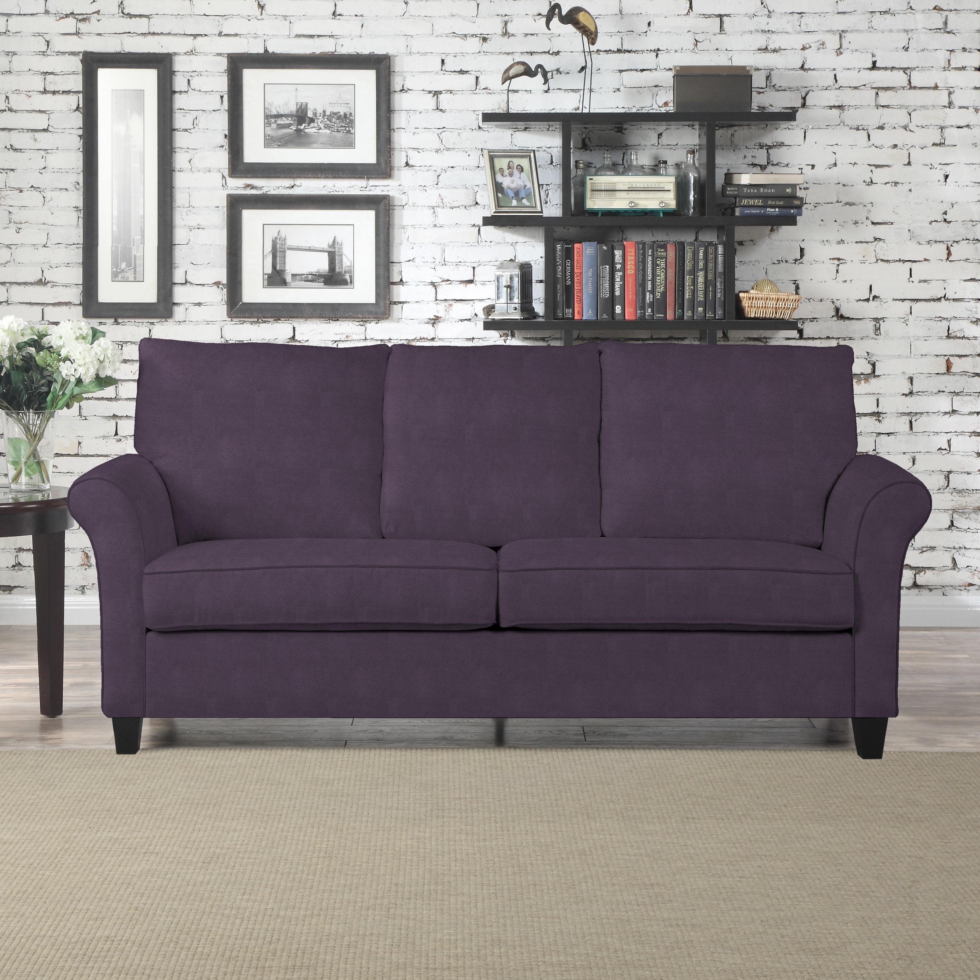 Den Pope Street Plum Velvet Sofast Sofa