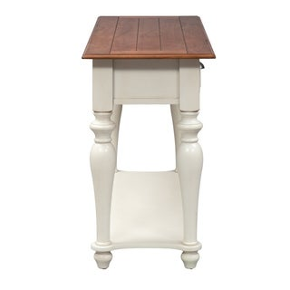The Gray Barn Julia Bisque and Natural Pine Sofa Table