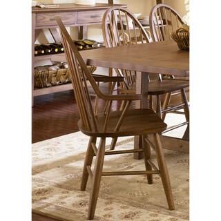The Gray Barn Graig Road Weathered Oak Windsor Arm Chair