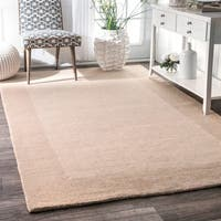 Carbon Loft Wilkins Handmade Solid Border Wool Area Rug - 8'3 x 11