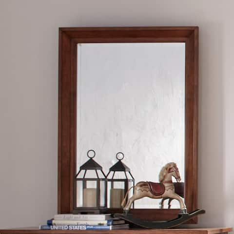 Copper Grove Epper Aged Oak Mirror - Brown
