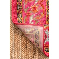 "The Curated Nomad Marcela Traditional Medallion Pink Runner Rug - 2'6"" x 8' Runner"