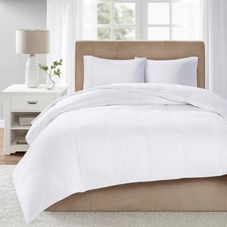 True North by Sleep Philosophy Level 3 White 300 Thread Count Cotton Sateen White Down Comforter with 3M Scotchgard