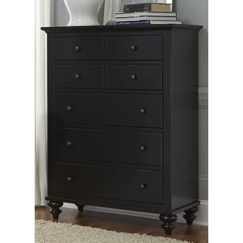 Gracewood Hollow Walker Black Cottage 5-drawer Chest