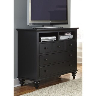 Gracewood Hollow Walker Black Cottage Media Chest