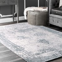The Gray Barn Maplewood Handmade Distressed Vintage Blue Area Rug - 8'6 x 11'6