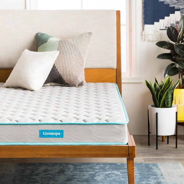Shop LINENSPA 6 inch Full size Innerspring Mattress   Free