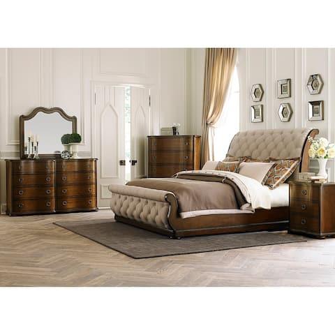 Gracewood Hollow Chimsoro Serpentine 8-drawer Dresser and Mirror Set