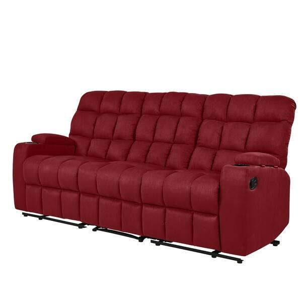 Shop Copper Grove Bielefeld Microfiber 3 Seat Recliner Sofa On
