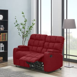 Miraculous Buy Red Microfiber Loveseats Online At Overstock Our Best Unemploymentrelief Wooden Chair Designs For Living Room Unemploymentrelieforg