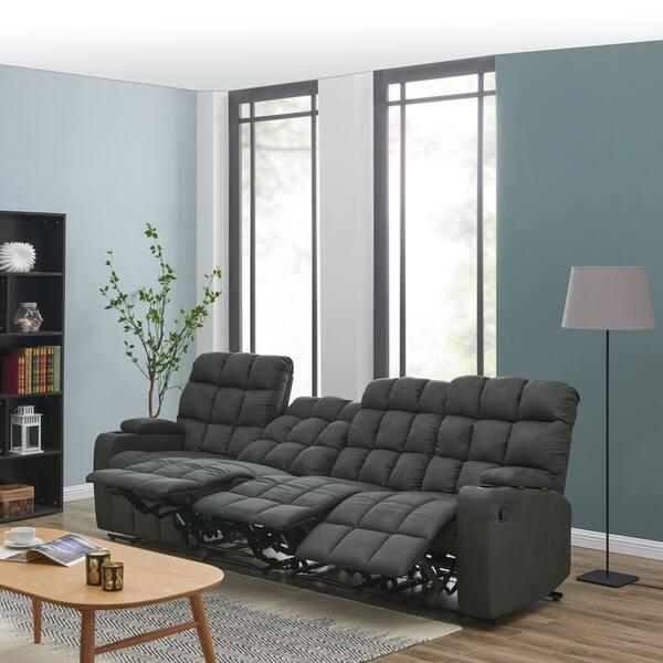 Sensational Shop Copper Grove Bielefeld Grey Microfiber 4 Seat Recliner Cjindustries Chair Design For Home Cjindustriesco