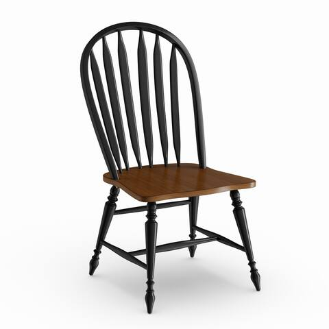 The Gray Barn Buttercup Hill Black and Bronze Windsor Dining Chair